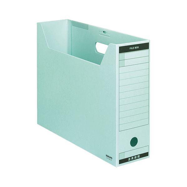 (まとめ) コクヨ ファイルボックス-FS(Bタイプ) B4ヨコ 背幅102mm 青 フタ付 B4-LFBN-B 1パック(5冊) 【×5セット】