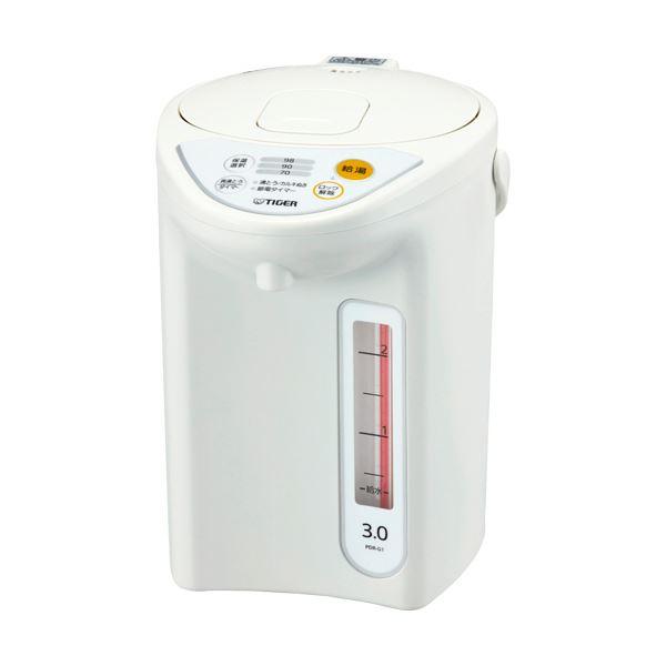 タイガー魔法瓶 マイコン電動ポット 3Lホワイト PDR-G301W 1台