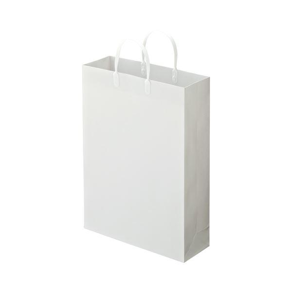 (まとめ) TANOSEE ラミネートバッグ 大 ヨコ320×タテ440×マチ幅110mm 白 1パック(10枚) 【×10セット】