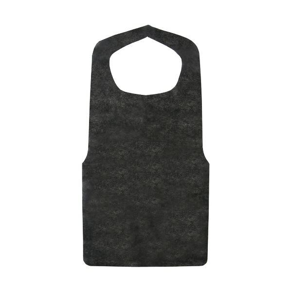 油に強くしなやかな不織布タイプ 今ダケ送料無料 不織布エプロン 黒 1セット 900枚:30枚×30パック 授与