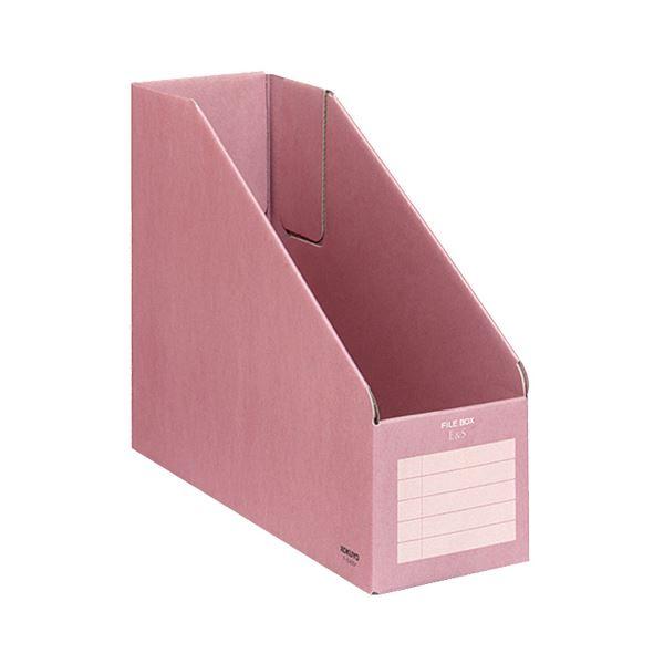 (まとめ) コクヨ ファイルボックスE&S A4フリー型 背幅102mm ピンク フ-E455P 1冊 【×30セット】