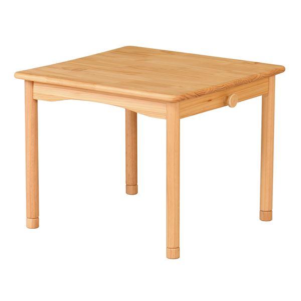 キッズテーブル/子供用デスク 【ナチュラル 幅600mm】 木製 高さ調節 継脚付き 〔リビング ダイニング〕 組立品【代引不可】