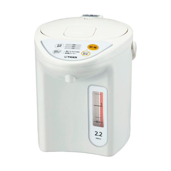 タイガー魔法瓶 マイコン電動ポット2.2L ホワイト PDR-G221W 1台