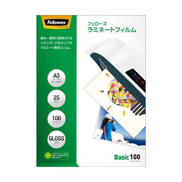 (まとめ) フェローズ ラミネートフィルム A3100μ 5848801 1パック(25枚) 【×10セット】