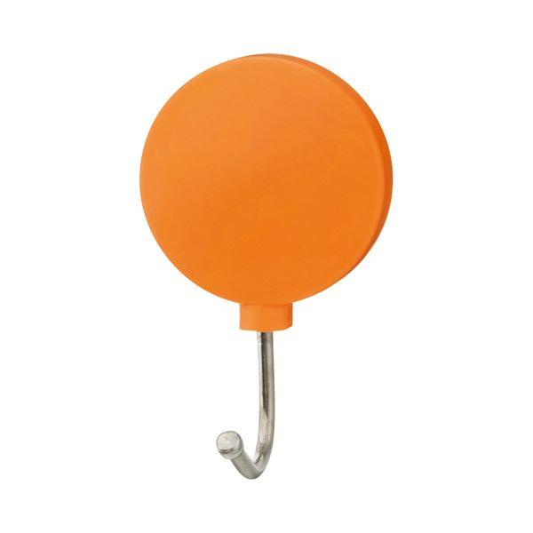 (まとめ) TANOSEE カラーマグネットフック スイング 耐荷重約1kg 橙 1個 【×100セット】