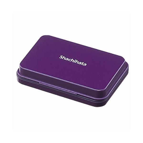 (まとめ) シヤチハタ スタンプ台 小形 紫 HGN-1-V 1個 【×30セット】
