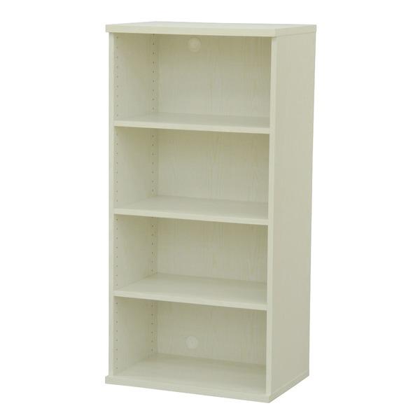 カラーボックス(収納棚/カスタマイズ家具) 4段 幅58.9×高さ120.3cm セレクト1260WH ホワイト【代引不可】