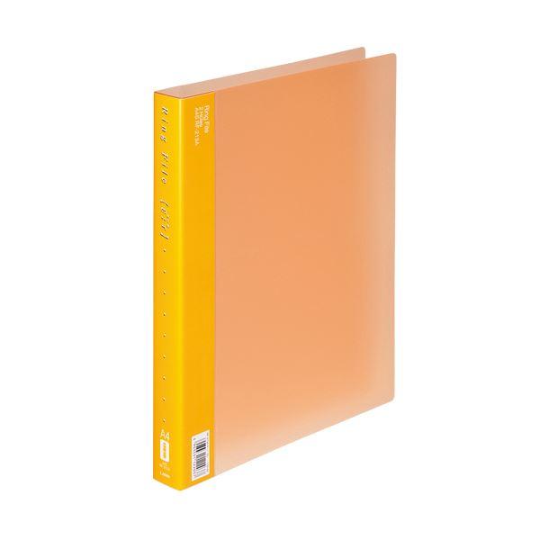 (まとめ) ライオン事務器 リングファイル(エール)A4タテ 2穴 150枚収容 背幅30mm オレンジ RF-213A 1冊 【×30セット】