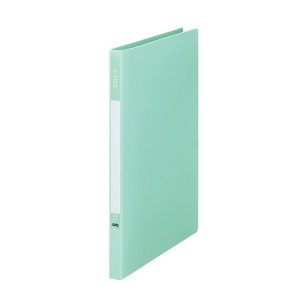 (まとめ)TANOSEE Zファイル(再生PP表紙)A4タテ 100枚収容 背幅17mm ミントグリーン 1セット(10冊)【×5セット】