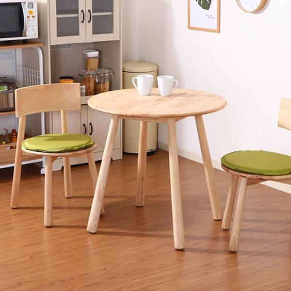 木製ラウンドテーブル 【幅80cm】 天然木 ナチュラル 『Natural Signature ティムバ』【代引不可】