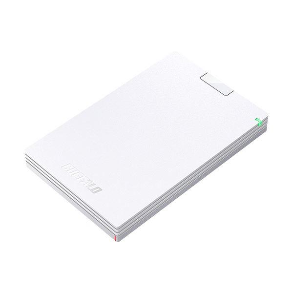 (まとめ)バッファロー MiniStationUSB3.1(Gen.1)対応 ポータブルHDD 1TB ホワイト HD-PCG1.0U3-BWA 1台【×3セット】
