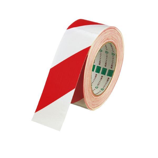 (まとめ)オカモト 布テープ トラ No.111 シロアカ 50mm×25m【×30セット】