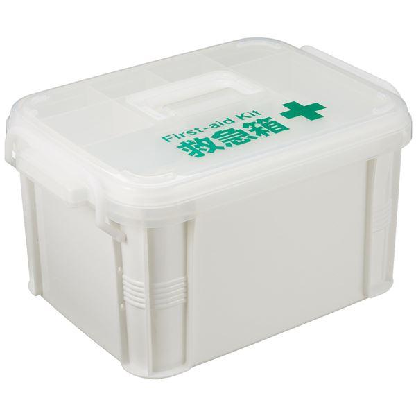 (まとめ)不動技研 救急箱 F-2465 ホワイト (くすり入れ 薬箱 常備薬 収納) 【16個セット】