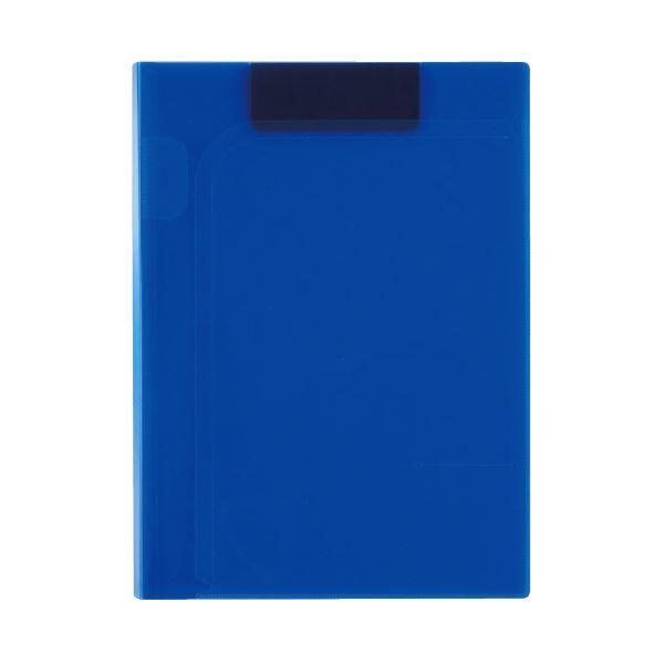 (まとめ)セキセイ クリップファイルA4 コバルトブルー ACT-5924-14(×20セット)