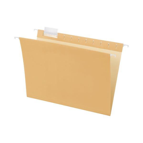 (まとめ)TANOSEE ハンギングフォルダーA4 クリーム 1セット(50冊:5冊×10パック)【×3セット】