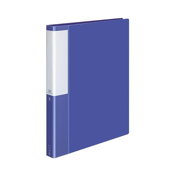(まとめ) コクヨ クリヤーブック(クリアブック)(POSITY) 替紙式 A4タテ 30穴 25ポケット付属 背幅33mm ブルー P3ラ-L730B 1冊 【×10セット】