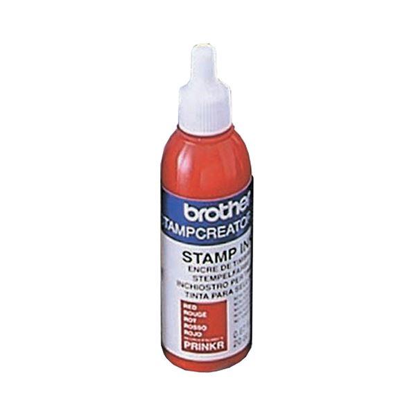(まとめ) ブラザー BROTHER スタンプ用補充インク 赤 20cc PRINKR 1本 【×10セット】