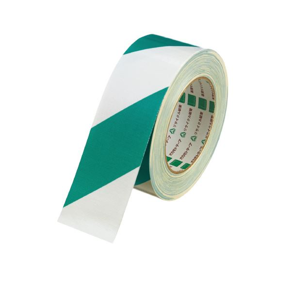 (まとめ)オカモト 布テープ トラ No.111 シロミドリ 50mm×25m【×30セット】