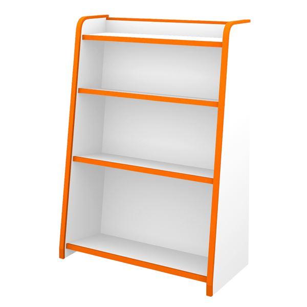 知育家具 EVAキッズシリーズ ほんだな 幅63.3cm オレンジ 【完成品】【代引不可】