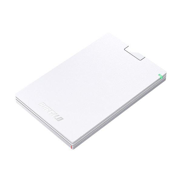 (まとめ)バッファロー MiniStationUSB3.1(Gen.1)対応 ポータブルHDD 500GB ホワイト HD-PCG500U3-WA 1台【×3セット】