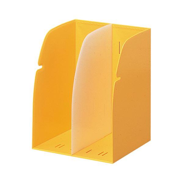 (まとめ) リヒトラブ REQUEST ブックスタンド 2ブロック 黄 G1620-5 1個 【×10セット】