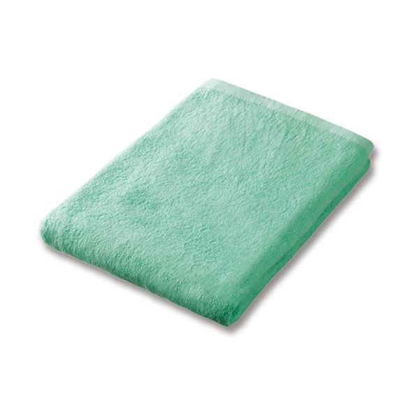 (まとめ)業務用スレンカラーバスタオルアイスグリーン 1枚【×10セット】