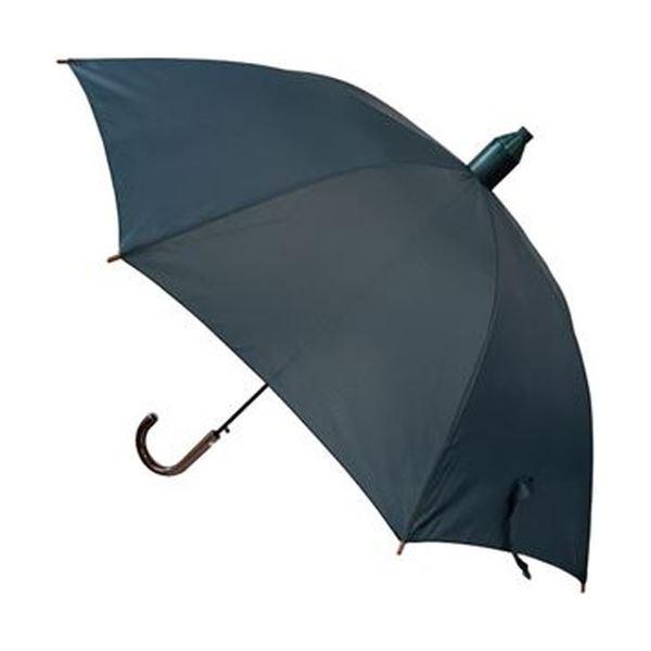(まとめ)ニシワキ スライドカバー付木柄ジャンプ傘60cm 紺 1本【×20セット】
