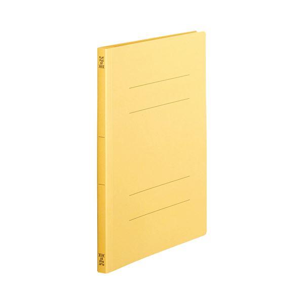 (まとめ) TANOSEE フラットファイル(スタンダードカラー) A4タテ 150枚収容 背幅18mm 黄 1パック(10冊) 【×30セット】