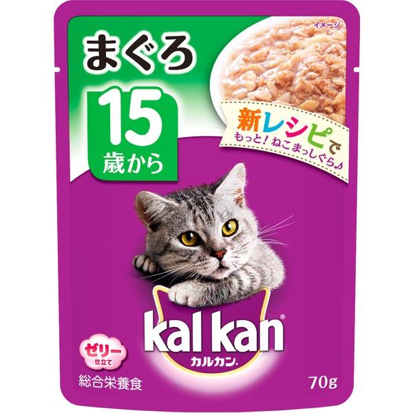 (まとめ)カルカン パウチ 15歳から まぐろ 70g【×160セット】【ペット用品・猫用フード】