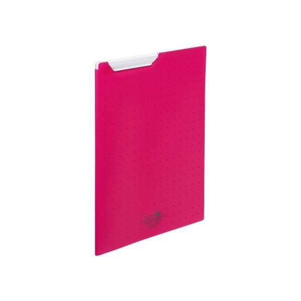 (まとめ)LIHITLAB クリップファイルA4 赤 F-5067-3【×30セット】