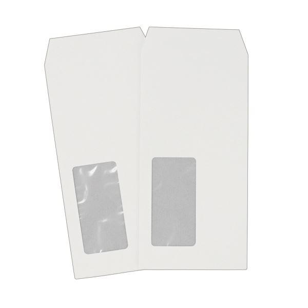 (まとめ) ハート 透けない封筒 ケント 長6 セロ窓付 80g/m2 〒枠なし XQP651 1セット(500枚:100枚×5パック) 【×5セット】