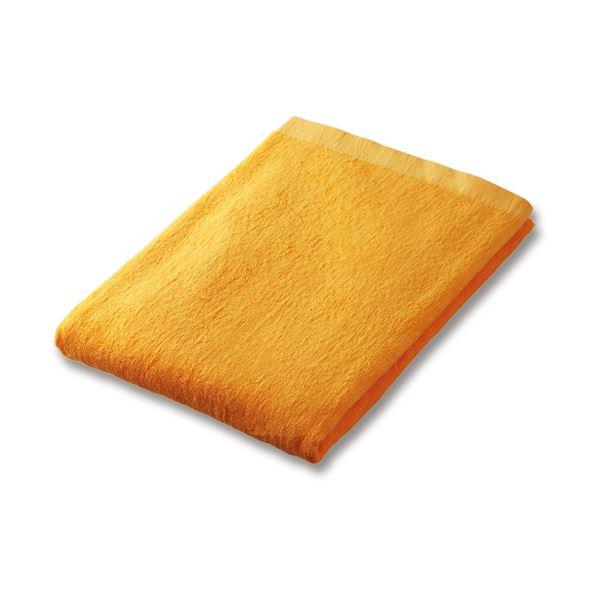 (まとめ)業務用スレンカラーバスタオル ゴールド 1枚【×10セット】