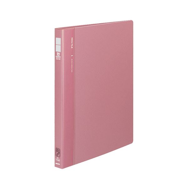 (まとめ) コクヨ リングファイル 発泡再生PP表紙A4タテ 30穴 120枚収容 背幅27mm ピンク フ-F460P 1冊 【×10セット】