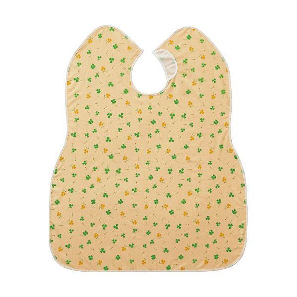 (まとめ)ピジョン 肩までおおえる食事エプロン クローバー 黄 1枚【×5セット】