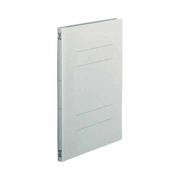 (まとめ) TANOSEE フラットファイル(スタンダードカラー) A4タテ 150枚収容 背幅18mm グレー 1パック(10冊) 【×30セット】