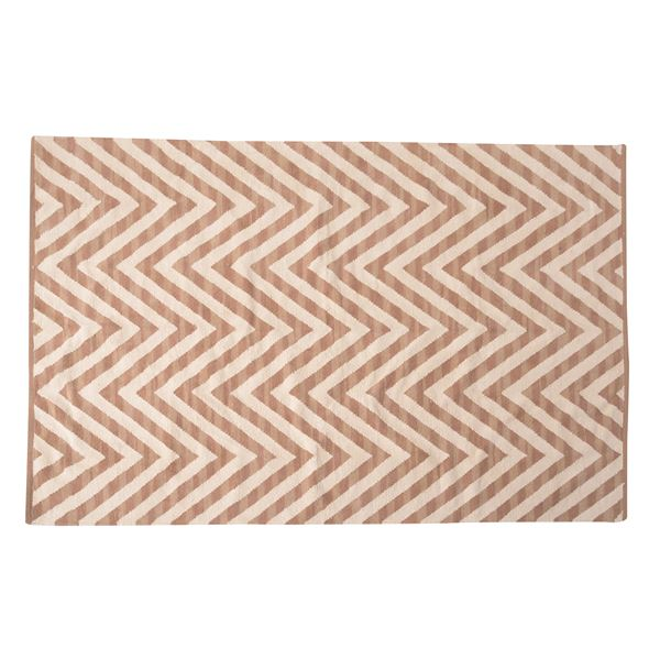 エスニック調 ラグマット/絨毯 【170×230cm TTR-171C】 長方形 綿100% インド製 収納袋付き 〔リビング ダイニング〕