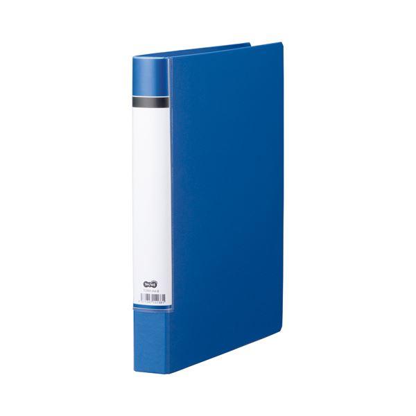 (まとめ) TANOSEE Oリングファイル(貼り表紙) A4タテ 2穴 200枚収容 背幅40mm 青 1セット(20冊) 【×5セット】