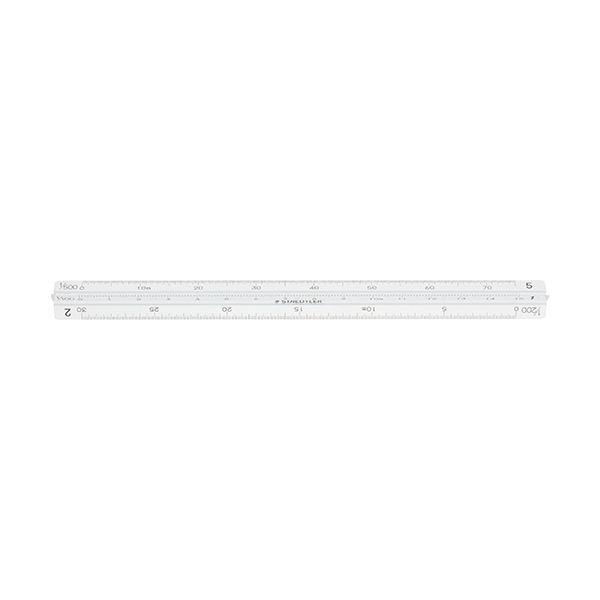 (まとめ) ステッドラー フルアルミ三角スケールポケット型 一般用 15cm 987 15-11 1個 【×10セット】