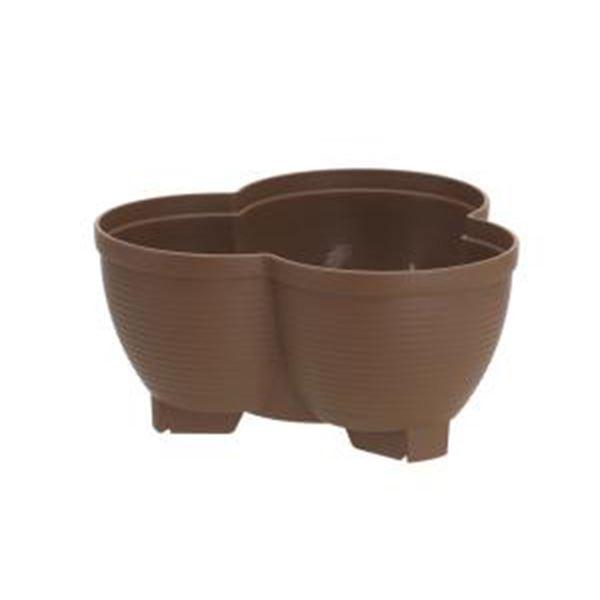 (まとめ) 連結鉢/タワーポット 【】 チョコブラウンプラスチック製 植木鉢 ガーデニング用品 園芸 【76個セット】