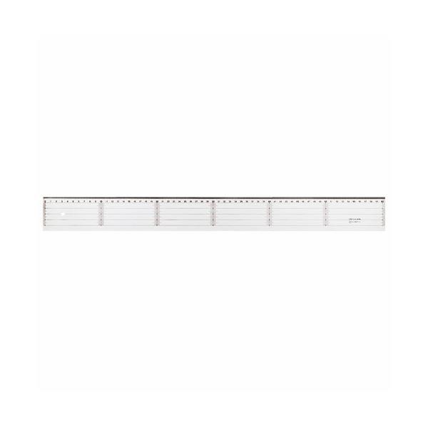 (まとめ) ライオン事務器 アクリル直線定規 60cm A-20 1本 【×10セット】