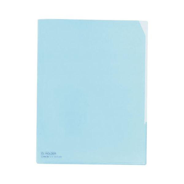 (まとめ) キングジム CLホルダー A4タテ 青コーナーカット付 734 1セット(10枚) 【×10セット】