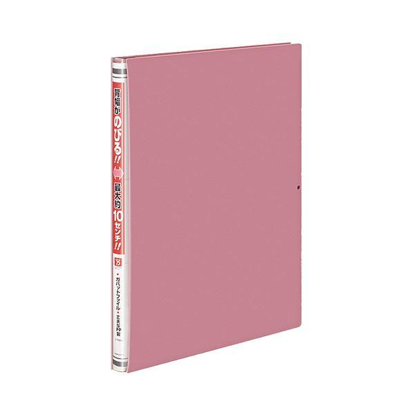 (まとめ) コクヨ ガバットファイル(活用タイプ・PP製) A4タテ 1000枚収容 背幅15~115mm ピンク フ-P90P 1冊 【×30セット】