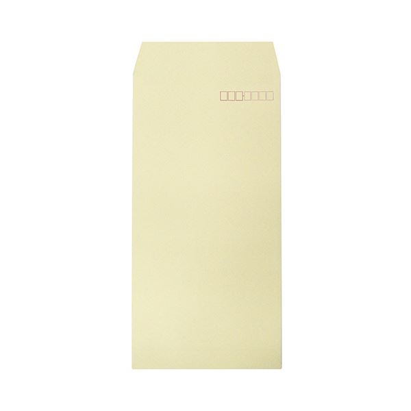 (まとめ) ハート 透けないカラー封筒 長3パステルクリーム XEP293 1セット(500枚:100枚×5パック) 【×5セット】