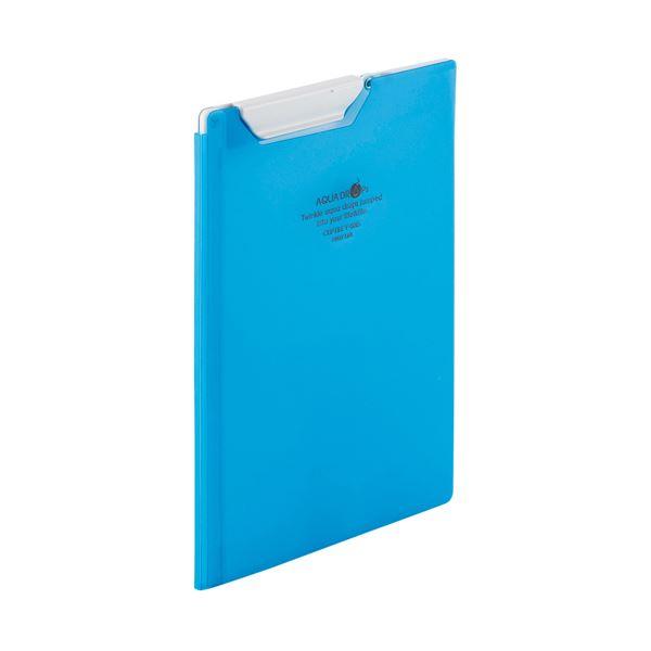 (まとめ)LIHITLAB クリップファイルA5 青 F-5065-8【×50セット】