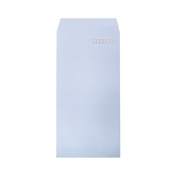 (まとめ) ハート 透けないカラー封筒 長3パステルアクア XEP294 1セット(500枚:100枚×5パック) 【×5セット】