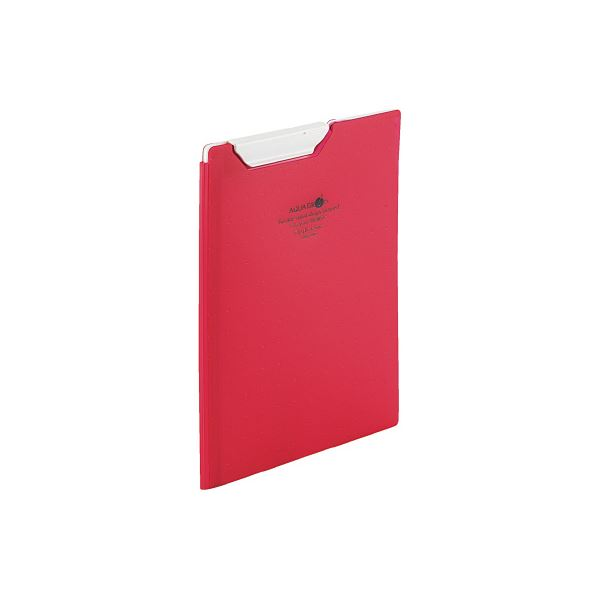 (まとめ)LIHITLAB クリップファイルA5 赤 F-5065-3【×50セット】