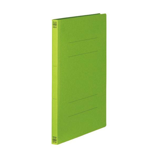 (まとめ) プラス フラットファイル 樹脂とじ具A4タテ 150枚収容 背幅18mm リーフグリーン No.021N 1セット(10冊) 【×30セット】