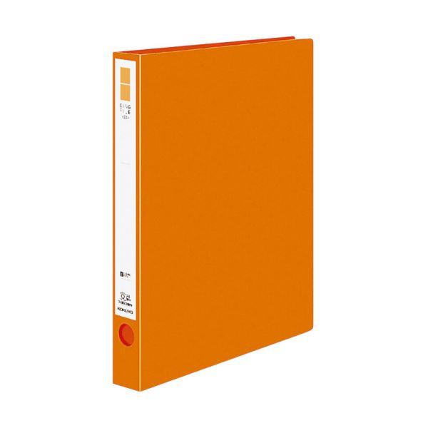 (まとめ) コクヨ リングファイル(ER・PP表紙)A4タテ 2穴 220枚収容 背幅39mm オレンジ フ-UR430NYR 1冊 【×30セット】