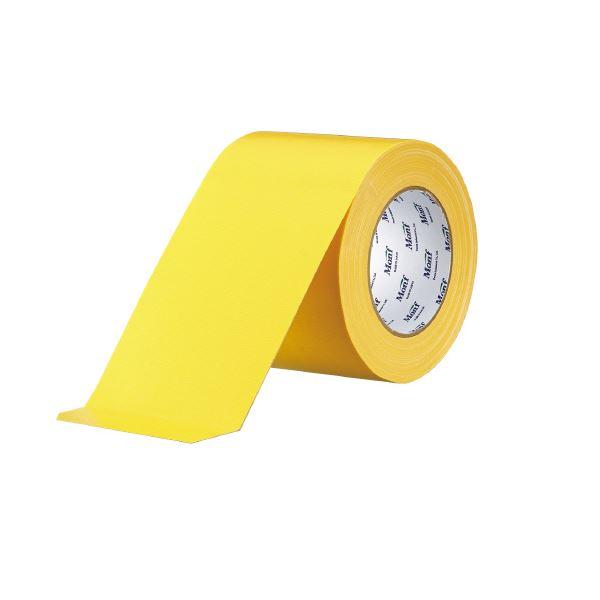 (まとめ)古藤工業 工事用布粘着テープNo.8002 黄 100mm×25m【×30セット】