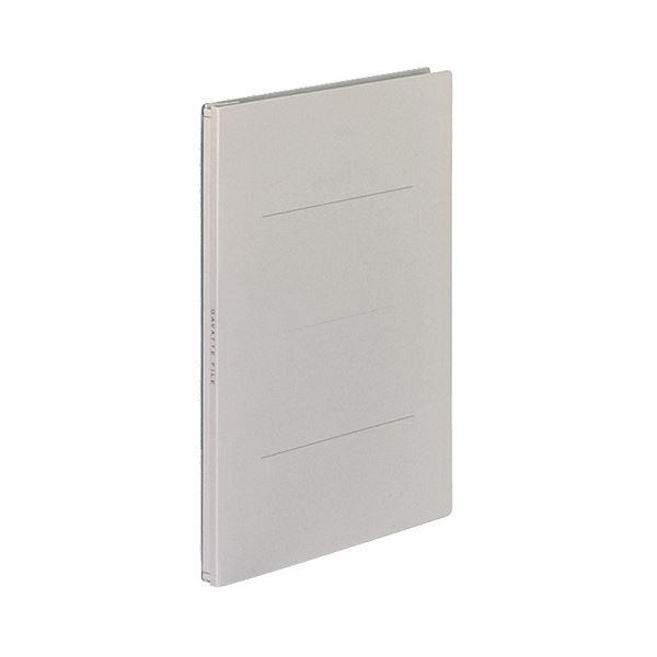 (まとめ) コクヨ ガバットファイル(紙製) B5タテ 1000枚収容 背幅13~113mm グレー フ-91M 1パック(10冊) 【×5セット】